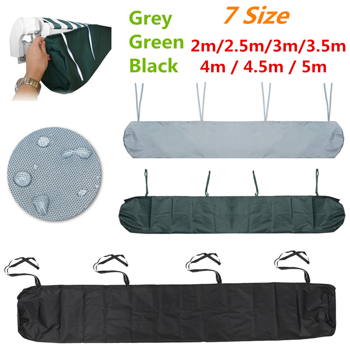 Patio Awning Winter Storage Bag Rain Weather Cover