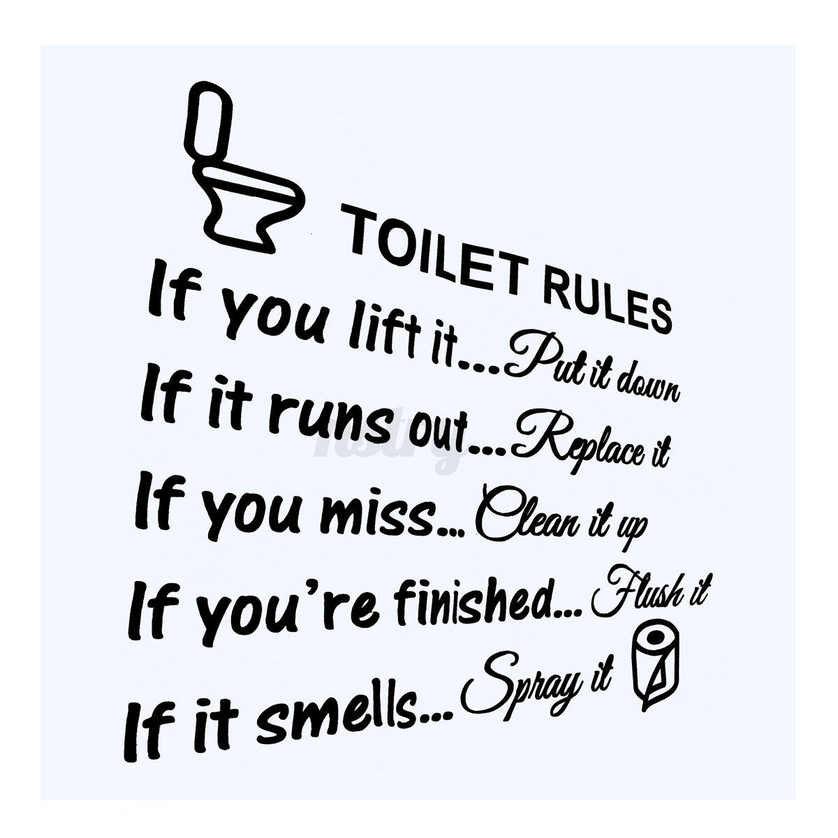 Removable Toilet Quote Wall Sticker Vinyl Art Decal Home