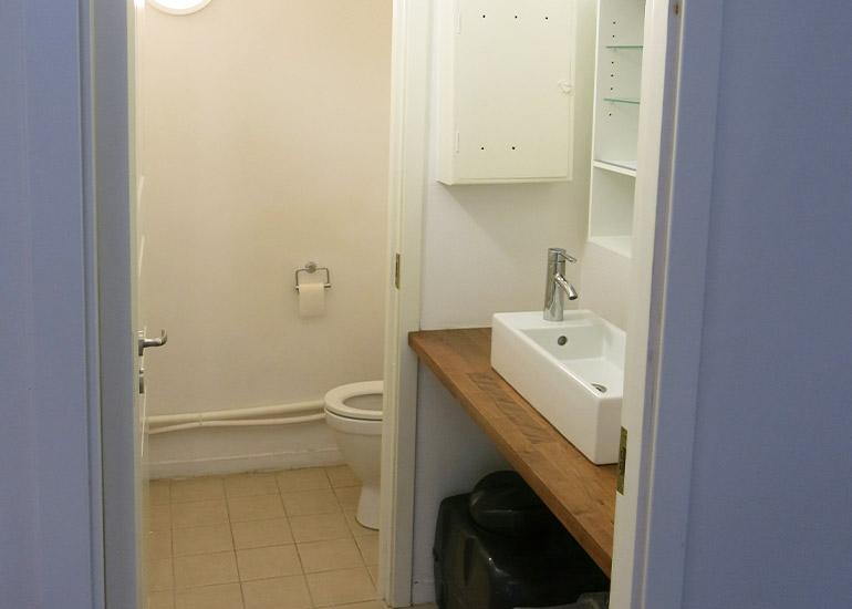 Toalett ved inngang