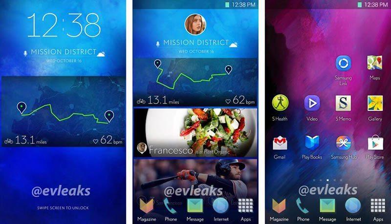 Alegada nueva interfaz de Samsung