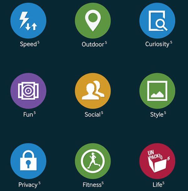 Iconos del nuevo TouchWiz del Samsung Galaxy S5