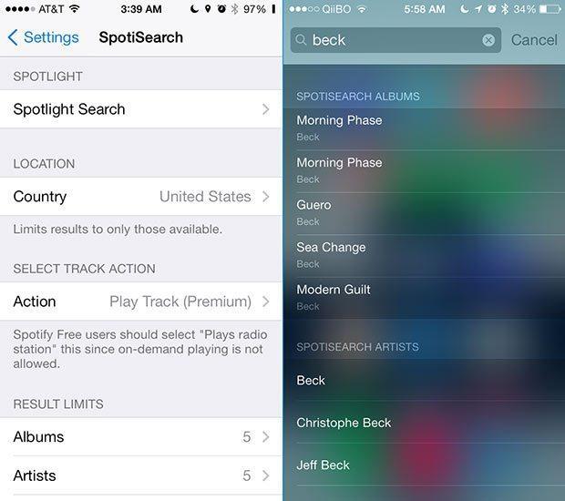 SpotiSearch: Haz búsquedas en Spotify desde Spotlight