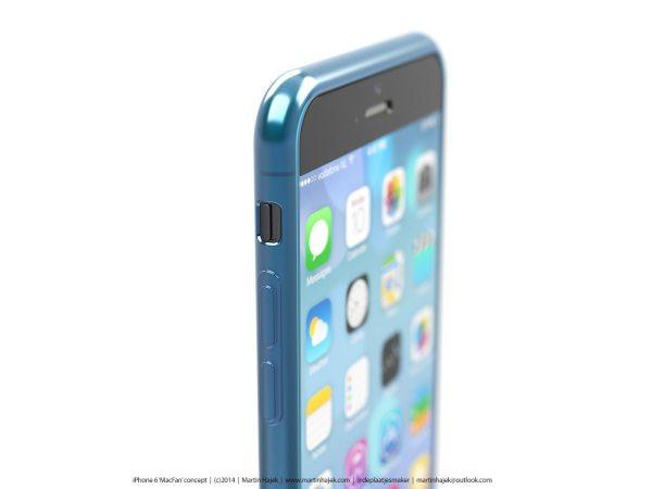 Render iPhone 6 negro y carcasa azul