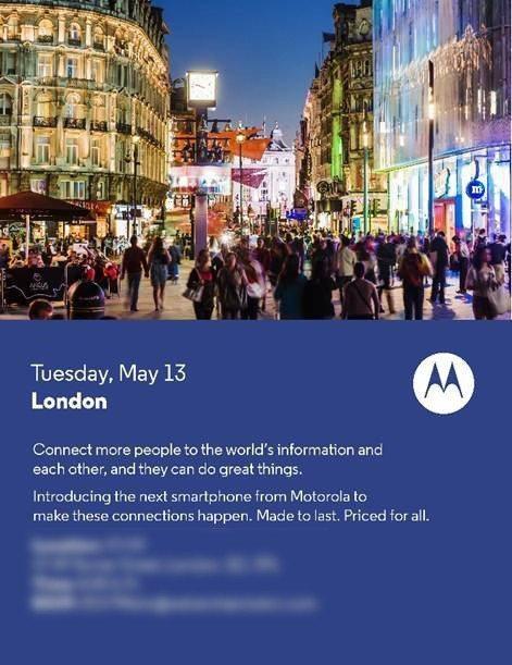 Motorola - Invitación 13 de mayo Londres