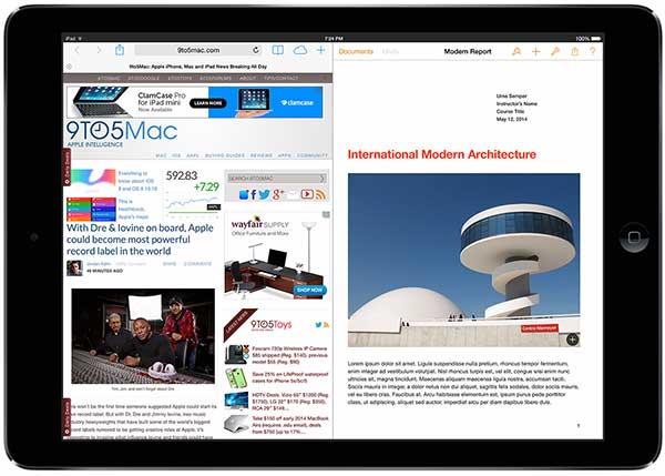 Multitarea real en iOS 8 para iPad