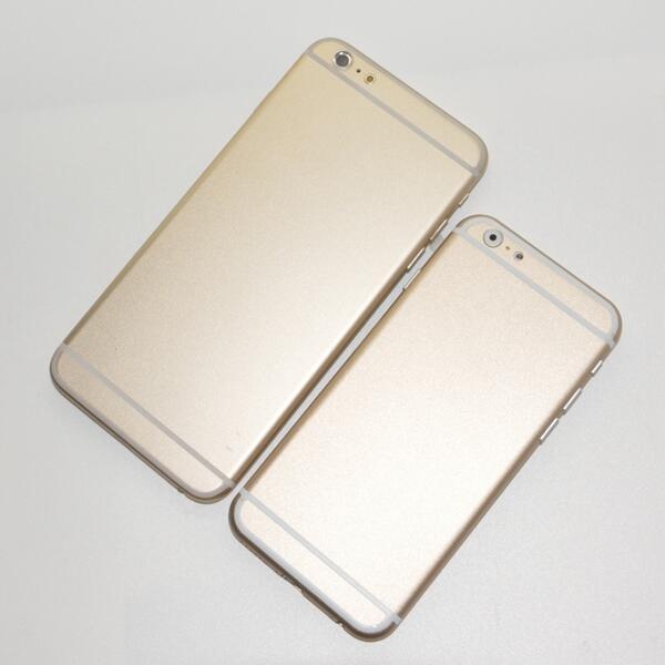 Alegados mockups de el nuevo iPhone 6 de 4.7 pulgadas y iPhone 6 de 5.5 pulgadas