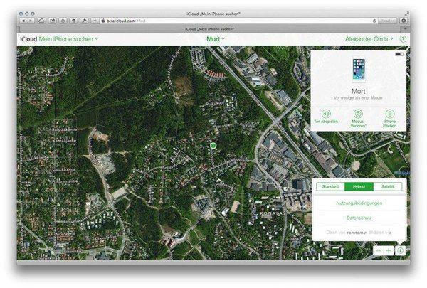 Apple Maps en iCloud Find my iPhone