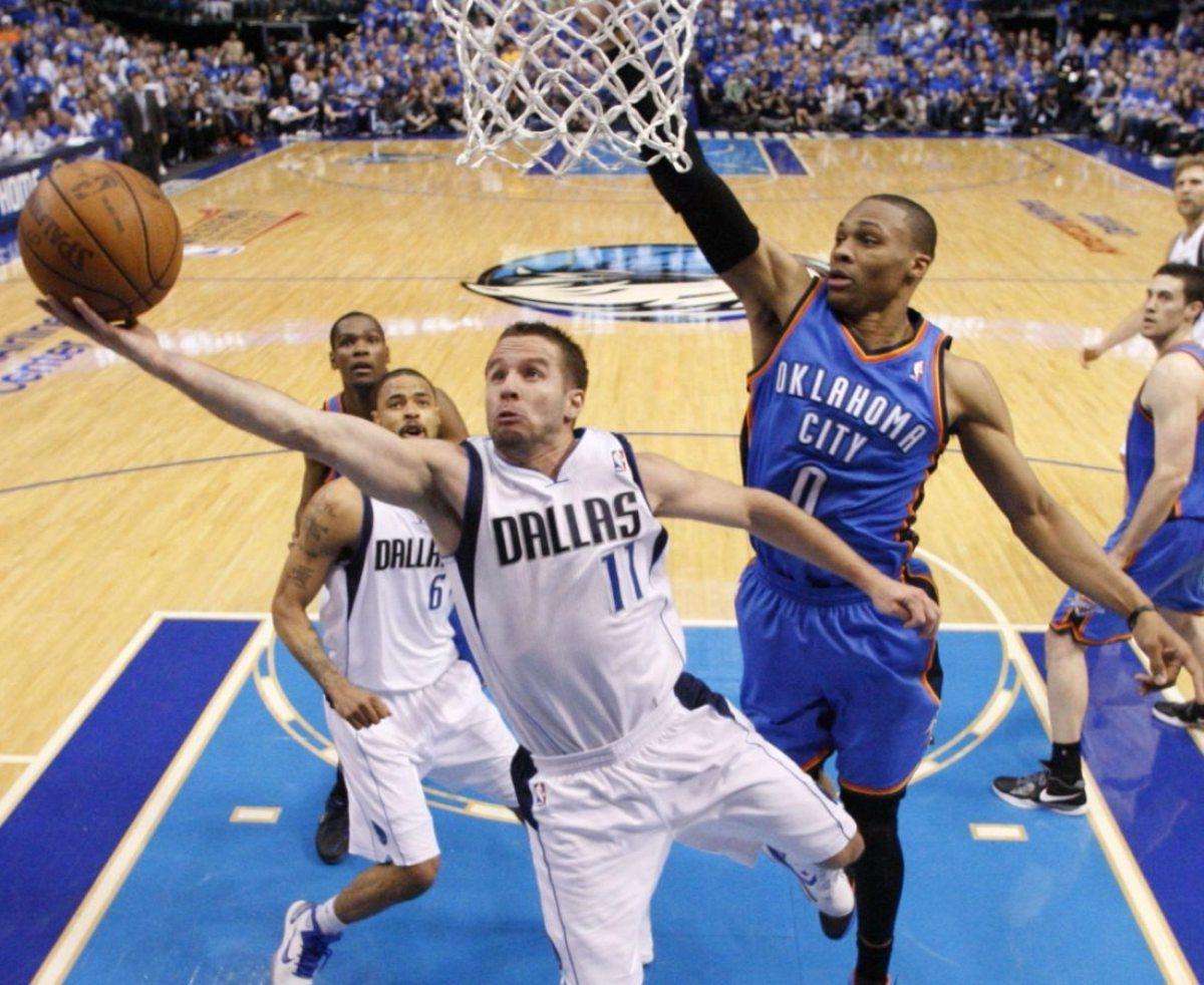 Barea en acción con Dallas en el 2011.