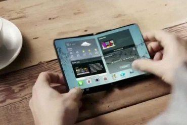 Teléfono se dobla por la mitad de Samsung - prototipo