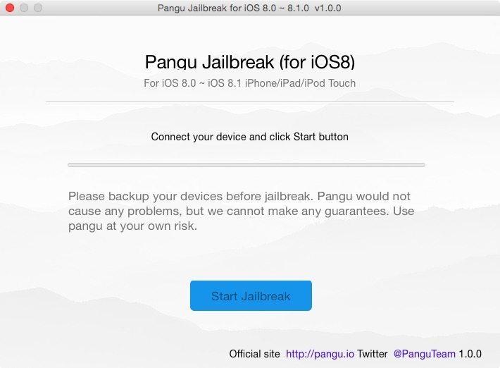 Pangu para Mac OS X - Jailbreak iOS 8