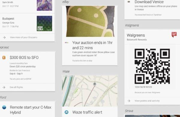 Android Google Now abrirá APIs a aplicaciones de terceros