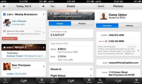 Aplicación Cue, comprada por Apple en 2013