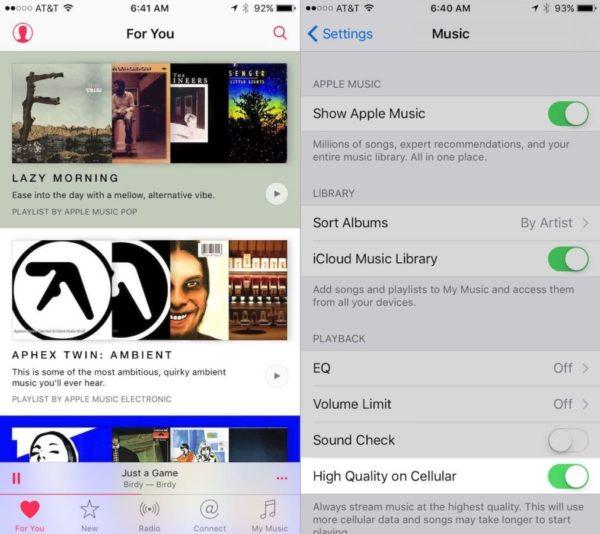 Apple Music en iOS 9 beta 3