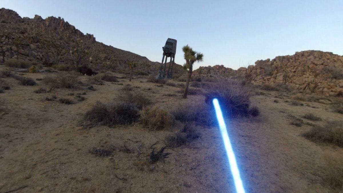 Un Jedi con una GoPro