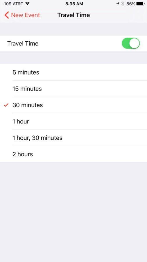 iOS 9 — Calendario