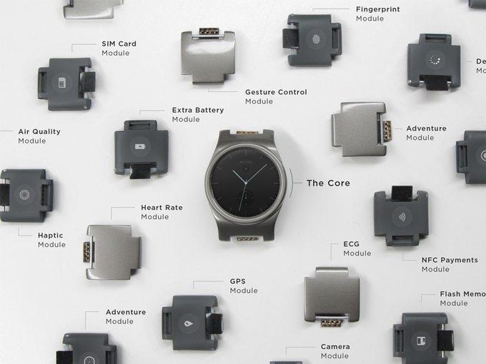 Reloj BLOCKS y módulos
