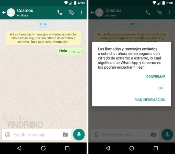 WhatsApp ahora es mas segura gracias al cifrado