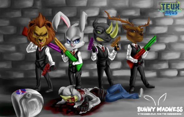 Juego de Bunny Madness de Teux Arts