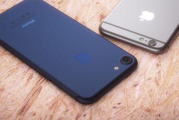 iPhone 7 azul oscuro mockup