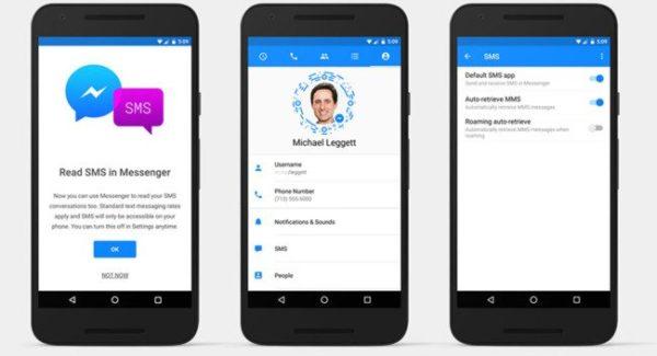 Facebook Messenger para Android vuelve añadir soporte para SMS