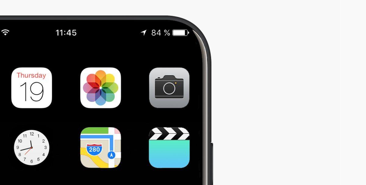 Concepto iPhone 8 pantalla sin bordes