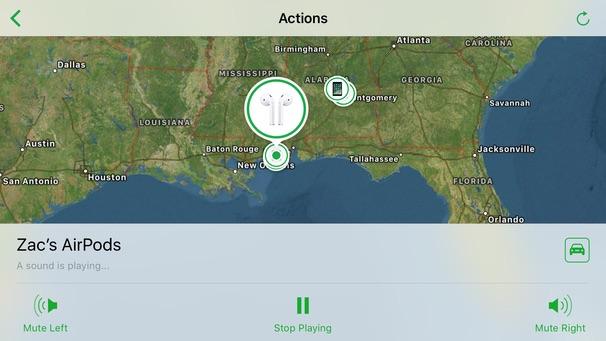 Find My AirPods en iOS 10.3