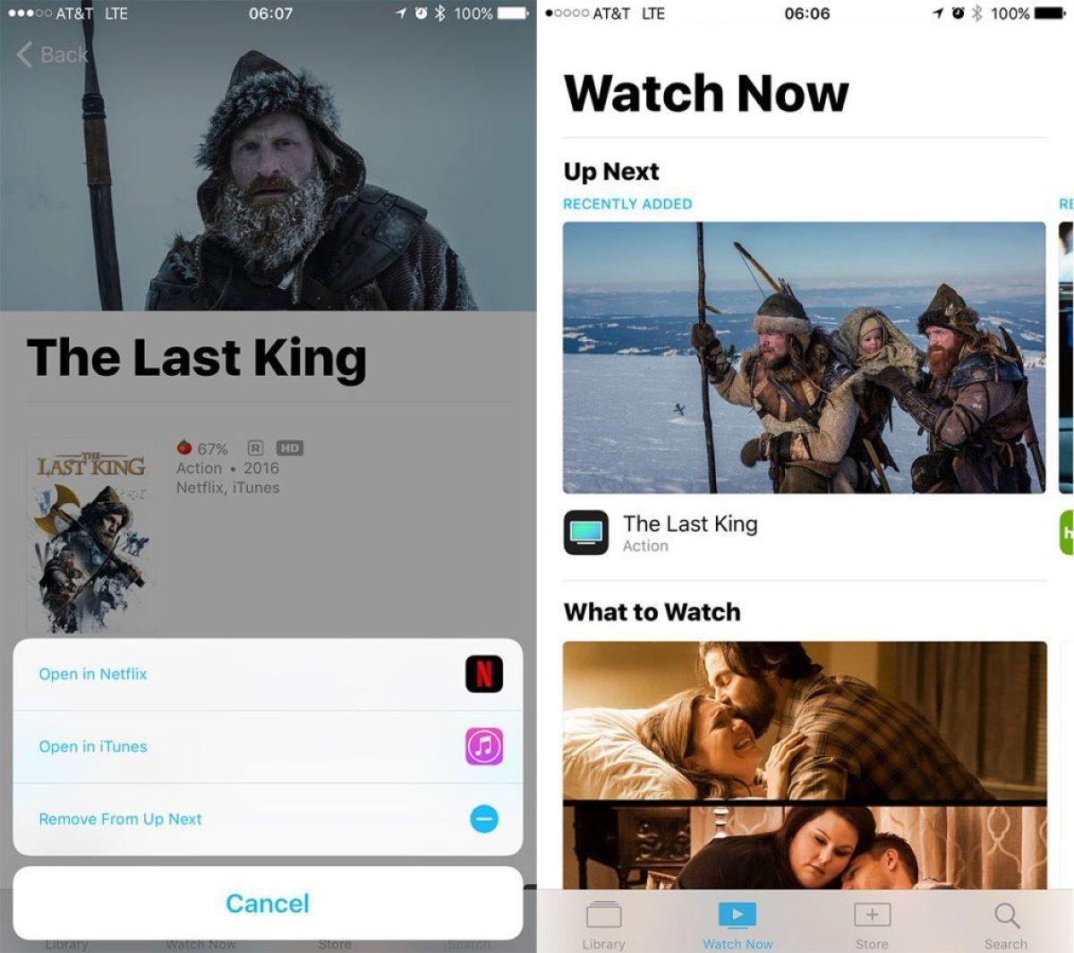 Netflix en aplicación TV del Apple TV