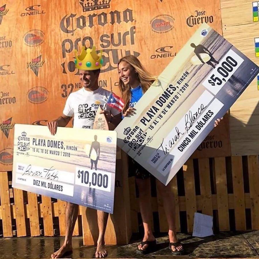 Brian Toth y Tiarah Blanco Corona Pro Surf Circuit 38