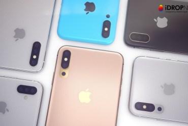 Concepto iPhone con 3 cámaras