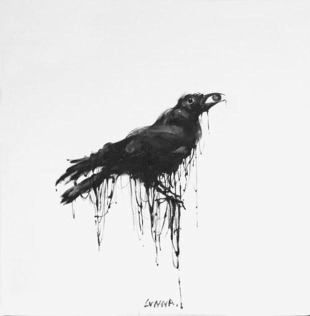 Qingdao Artist Lv Nan Painting Qingdao Crow