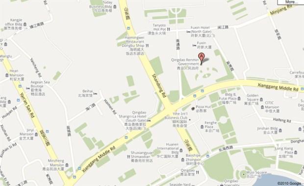 Shandong Lu Map Qingdao