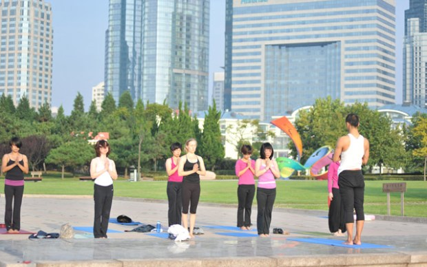 Qingdao Seen Sun Salutations 108 Yoga China