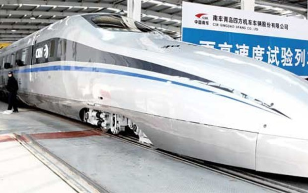 CSRQINGDAOhightrain Qingdao High Speed Train