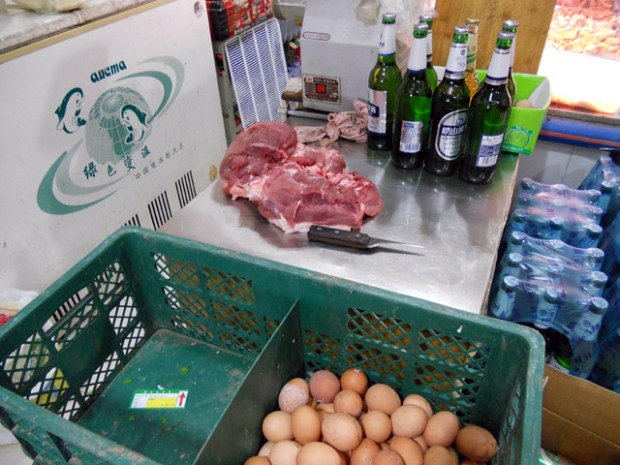 Meat Beer Eggs - a village shop in Laoshan, Qingdao by Clay Army