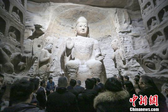 3D printed Buddhist statues Yungang Grottoes replica in Qingdao