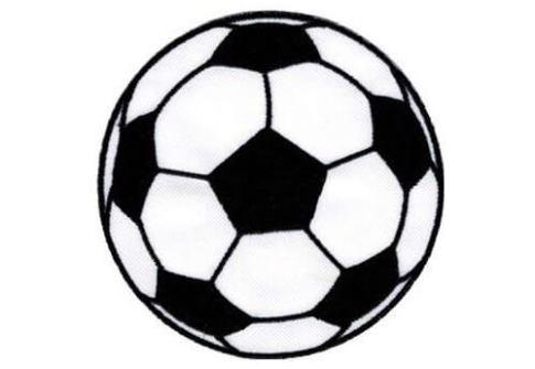 Custom Soccer Ball Iron On Embroidered Patches