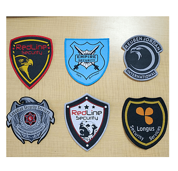 Customized military security guard uniform patches