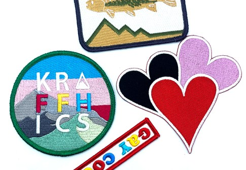 patch custom overlock Custom Iron-On Stock 3d Applique Embroidery Patch For Clothing hook and loop backing for custom patches