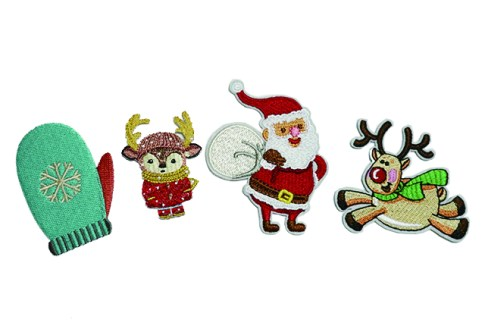 Custom Christmas logo patch embroidered patches, iron on embroidery patches
