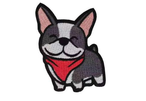 custom dog embroidery patch