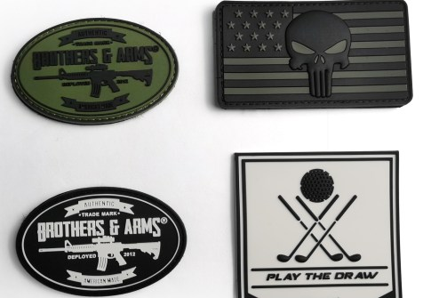 Custom Logo Patches Silicone Rubber Clothing Label Military Patch for Clothing