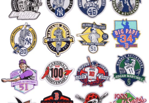 New wholesale embroidery baseball team LOGO badge patch custom production embroidery patches