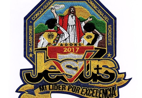 custom souvenir religious embroidered patches