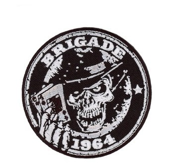Custom Iron On Embroidery Skull Porker Biker Arm Patches