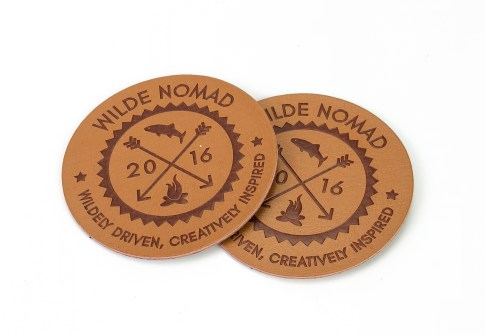 Wholesale Custom Debossed Name Logo PU Leather Patches and Labels for Shoes and Bags
