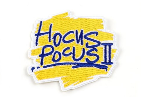 New Design Yellow 3D Brand Name Logo Embroidered Patch with Merrow Border For Garments