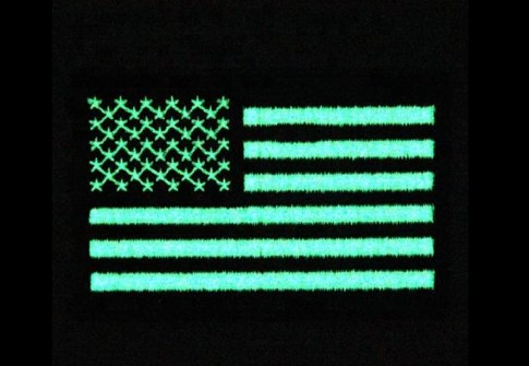 Embroidery American Flag Luminous Glow in The Dark Patches
