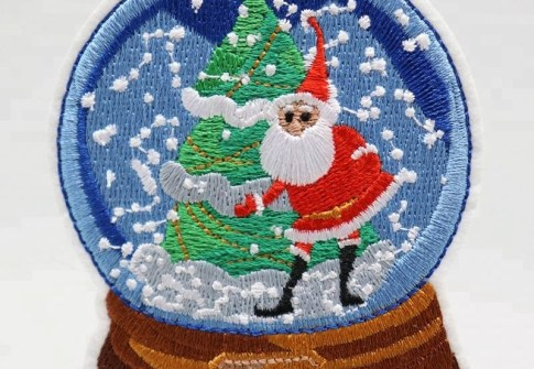 Promotion gift Santa Claus logo embroidery patches