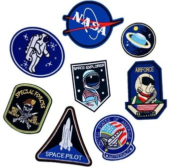 Customized Design Of Embroidered Patch Badge Astronaut Outer Space Custom Embroidery Patch For Garment Decoration