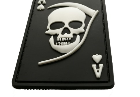 OEM Soft PVC Rubber Custom Skull Logo Uniform Morale Military Patches with Hook & Loop